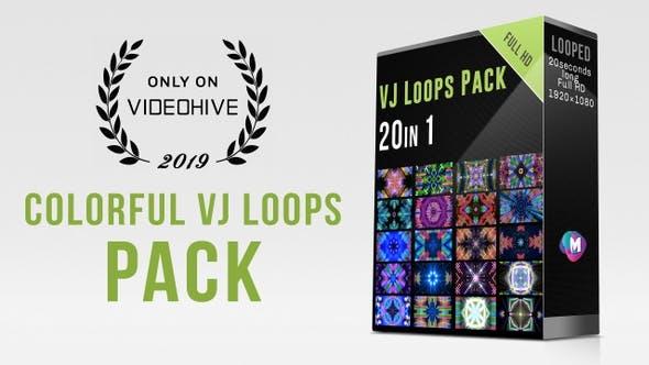 20个舞台背景动感视觉循环动画 VJ Loops Pack / Modern Music Visuals