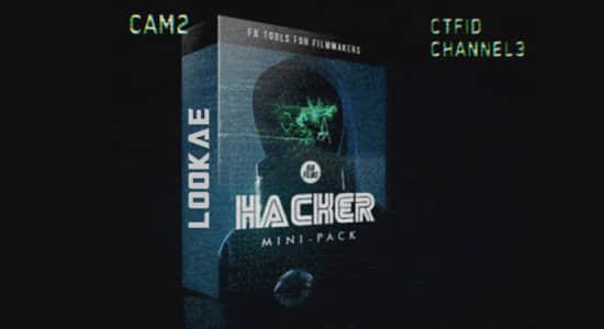 4K视频素材-40种故障干扰科技骇客动态图形元素 HACKER