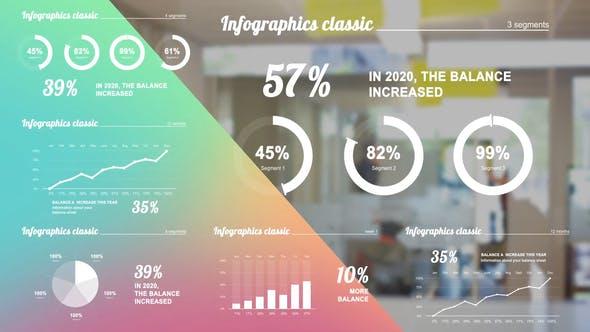 AE模板-白色干净公司企业商务信息图表动画 Infographics white
