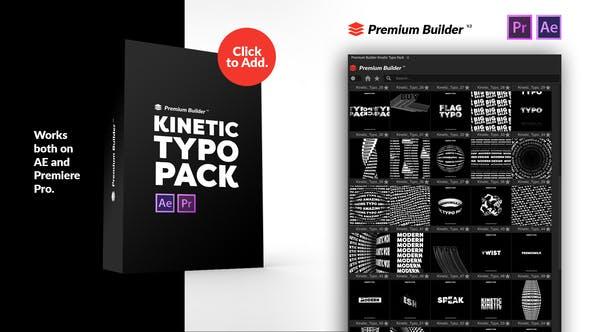 AE/PR脚本预设-130种酷炫创意文字标题动态排版预设 Kinetic Typography Pack
