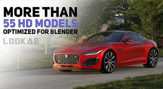 Blender预设-三维汽车模型绑定预设 Car Transportation V2.2 – Addon Car And Vehicle Rigged Cars Library Car