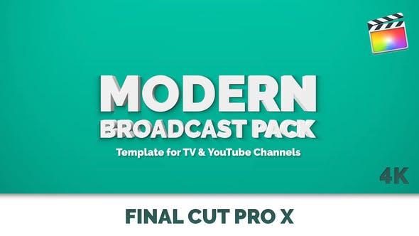 FCPX插件-49个现代彩色图形电视节目栏目包装动画 Modern Broadcast Pack插图