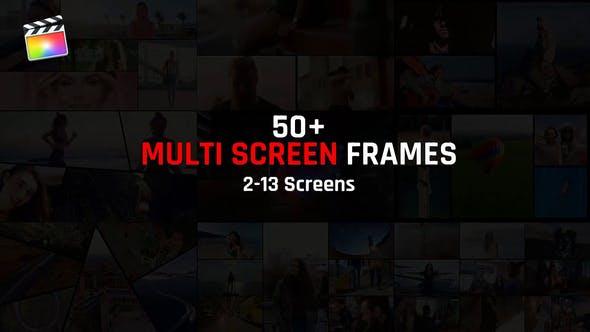 FCPX插件-59个多画面组合动态分屏预设动画 Multi Screen Frames Pack插图