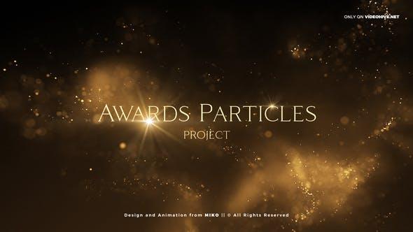 AE模板-漂亮优雅金色粒子文字标题活动年会颁奖开场片头 V2