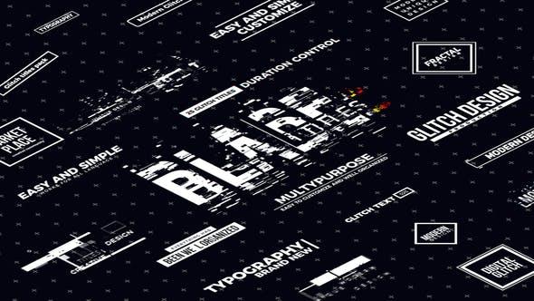FCPX插件-20个切片故障信号干扰文字标题动画 Blade Glitch Titles插图