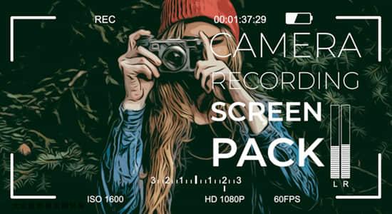 FCPX插件-21个摄像机手机录制拍摄取景框特效 Camera Display PACK