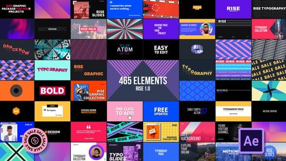 AE脚本-465个创意社交媒体字幕条标题图形排版设计背景过渡动画