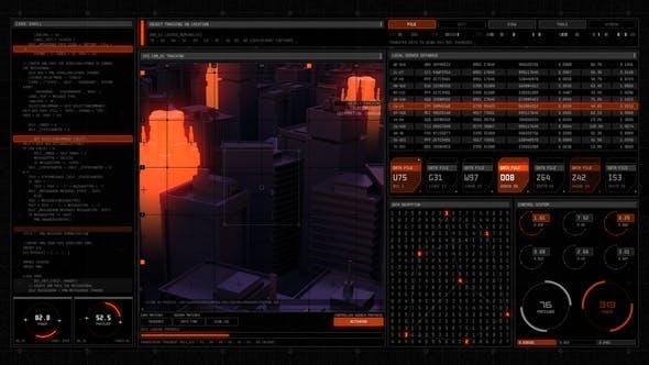 AE模板-未来HUD高科技元素图形UI界面动画包 Technodrome HUD UI Pack