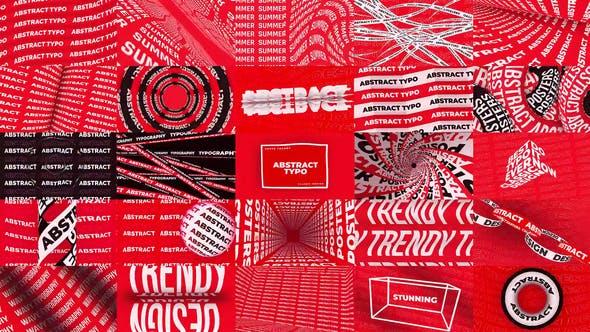 AE模板-50种简洁经典创意海报文字标题展示动画 Abstract Typography