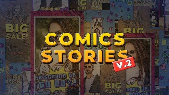AE模板-6组复古卡通动漫风格竖屏封面设计介绍动画