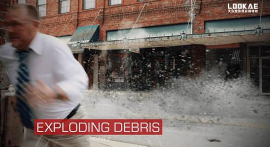 2K视频素材-20组混凝土爆炸碎石飞溅特效动画 有透明通道 ActionVFX – Exploding Debris VOL. 2
