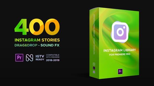 PR模板-400种竖屏图文介绍封面设计排版宣传动画预设 INS Library for Premiere Pro