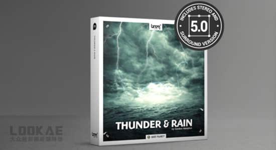 音效-66组打雷下雨狂风闪电暴雨环境环绕立体声音效 Thunder & Rain