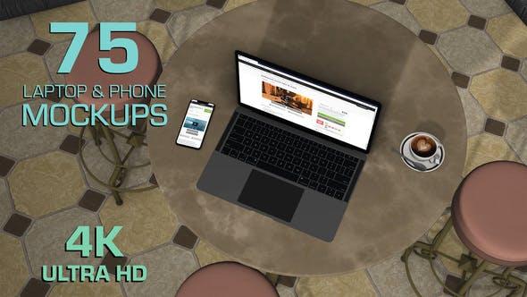 AE模板-75种三维空间场景手机电脑屏幕抠像合成展示动画
