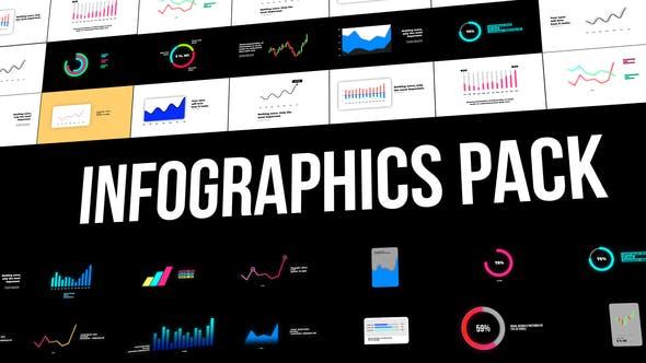 FCPX插件-25个信息数据柱状图曲线图表动画 Infographics