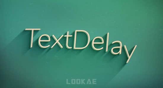 中文汉化AE插件-文字延迟动画快速制作器 TextDelay 1.6.1 Win