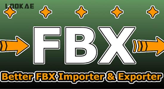 Blender插件-FBX模型导入导出工具 Better FBX Importer & Exporter v4.2.1