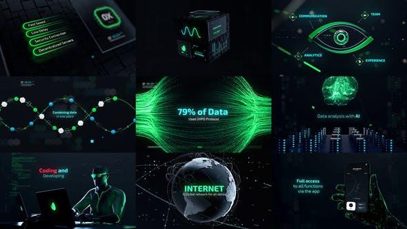 AE模板-未来网络数据科技感预告片 Cyber Technology Trailer