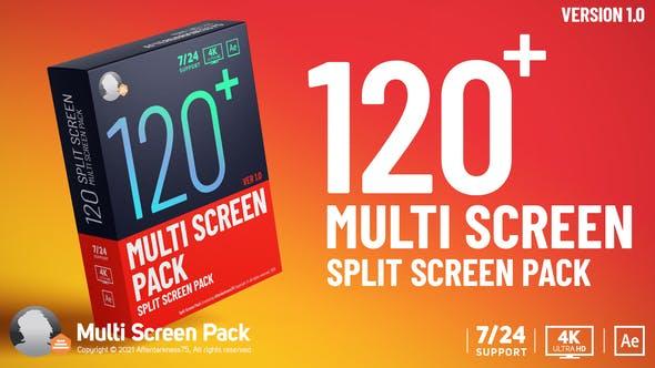 AE模板-120组多画面视频分屏网格组合动画预设 Multi Screen Pack