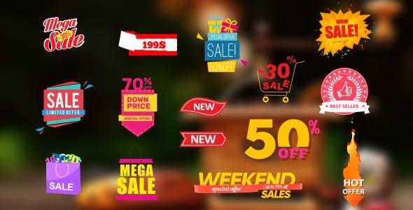 AE模板-商城网店降价打折销售标签 Sales Labels 2