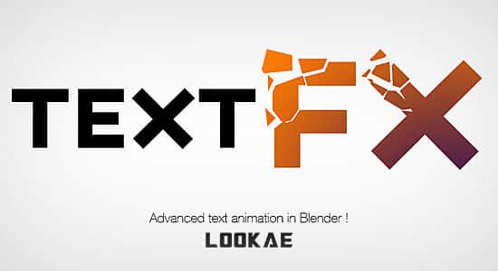 Blender插件-3D文本动画特效 Text Effects v0.99l