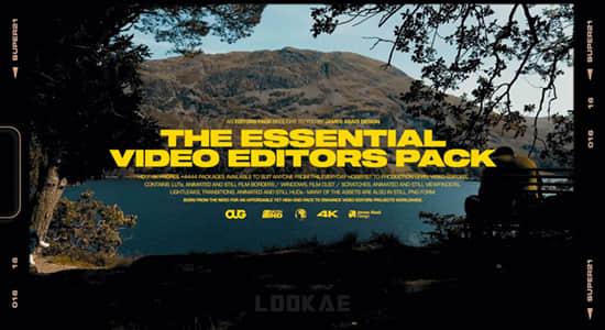 复古胶片灼烧刮痕闪烁漏光取景框叠加视频素材 The Essential Video Editors Pack