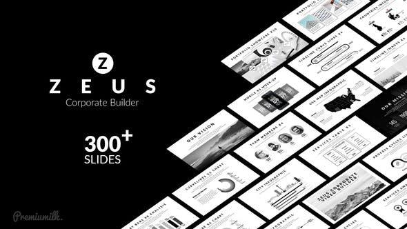 AE模板-300组黑白素雅公司企业商务图标信息宣传包装动画 Zeus Corporate Builder