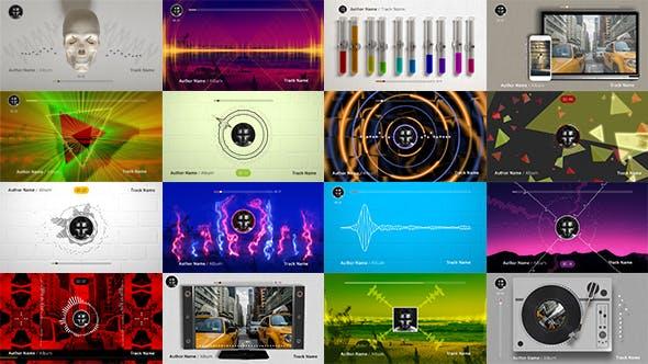 AE模板-50种音乐频谱可视化场景动画特效 Audio Spectrum Music Visualizers