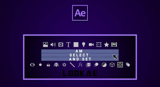 AE脚本-快速选择图层修改属性 AM Select And Set V1.0
