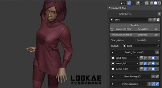 Blender插件-服装布料模拟制作工具 Garment Tool v1.23 + 使用教程