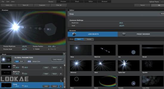 AE教程-学习使用镜头光晕Optical Flares插件制作视觉特效 (英文字幕) Learning Optical Flares