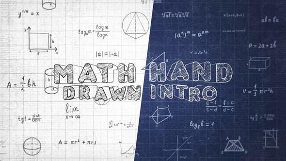 AE模板-手绘素描几何数学公式图形元素动画 Math Hand Draw Intro
