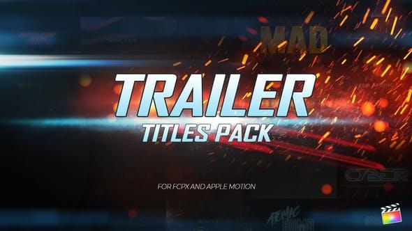 FCPX插件-31个大气史诗电影预告片文字标题场景动画 Trailer Titles Pack