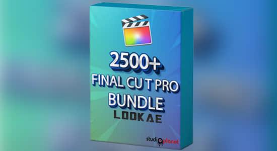 2500个转场字幕图形背景FCPX插件+音效LUTS调色预设 Final Cut Pro Bundle