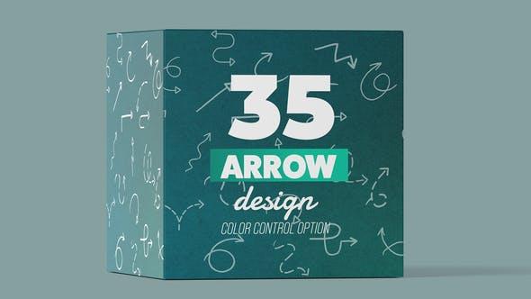AE模板-35个线条箭头生成动画元素 Arrow Pack