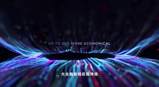 AE模板-唯美粒子线条光束生长文字标题动画 AI Power