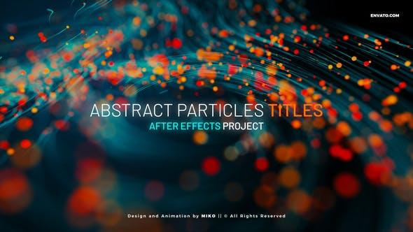 AE模板-唯美漂亮抽象粒子线条生长文字标题开场动画 Abstract Particles Titles