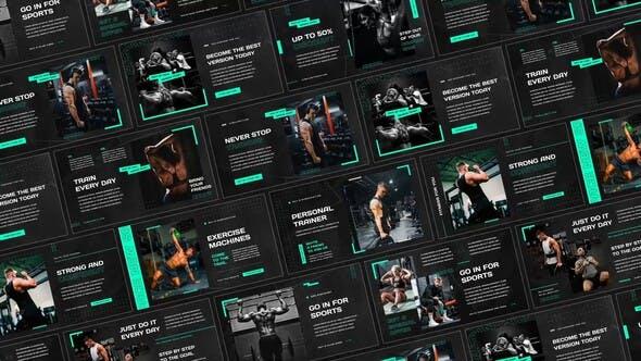 AE模板-体育运动健身励志图文幻灯片介绍展示 Sport Motivation Slides