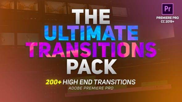 AE/PR模板-200个优雅光效故障水墨透视图形分割边变形缩放移动转场预设 The Ultimate Transitions Pack