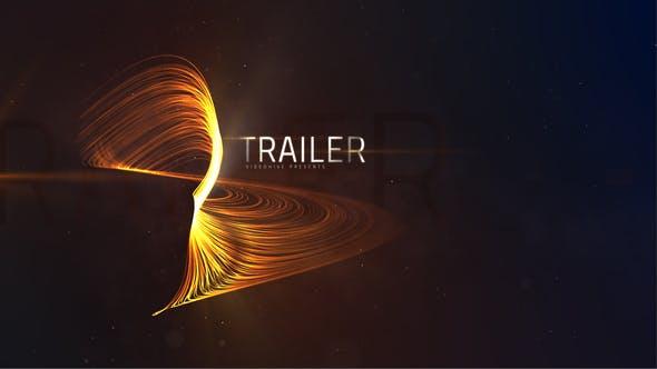 AE模板-大气史诗粒子线条动画文字标题开场 Trailer Lines Titles