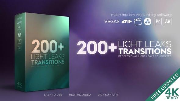 4K视频素材-101组真实漂亮镜头漏光炫光转场过渡动画 Light Leaks Transitions