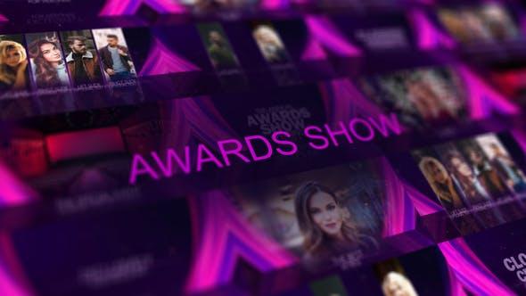 AE模板-抽象丝绸背景颁奖典礼开场片头包装 Awards Ceremony