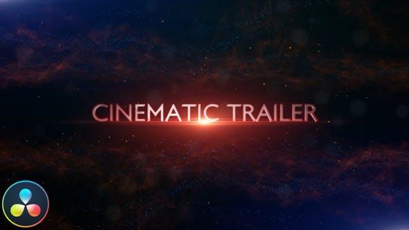 达芬奇模板-震撼史诗粒子文字标题电影片头开场 Cinematic Trailer Titles