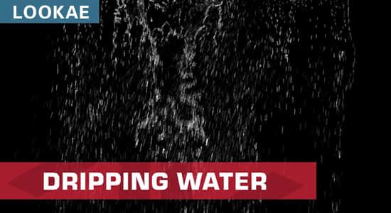 视频素材-37个屋顶排水沟瀑布倾泻水流动画 Actionvfx – Dripping Water Assets