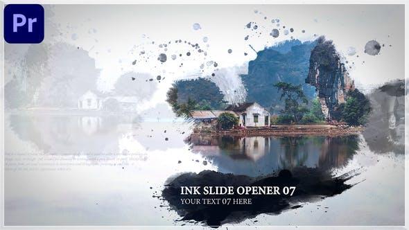 AE/PR模板-中国风水墨遮罩图文宣传开场片头 Ink Opener