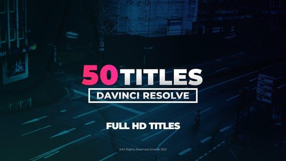 达芬奇模板-50个现代文字标题排版设计动画 Modern Titles 2