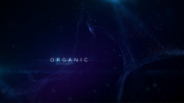 AE模板-唯美大气抽象粒子动画背景文字标题开场片头展示 Organic Titles