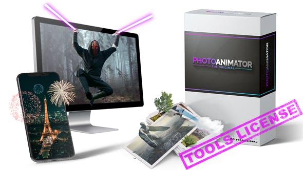 AE模板-平面静态图片转三维摄像机视差动画特效(含脚本) Photo Animator