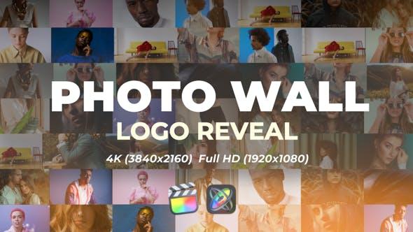 FCPX模板-多画面网格视频墙展示动画片头 Photo Wall Logo Reveal