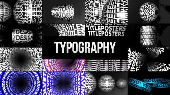 达芬奇模板-65个创意海报文字标题排版宣传动画 Typographic Kinetic Posters & Titles